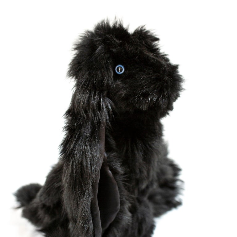 Design commissioned by JG SWITZER from a Ukranian plush toy artist, and sewn in our workshop from fluffy fur scraps, LITTLE JG RABBIT is for Bigs AND Littles. Created from our re-purposed, real Toscana sheep fur, this is our signature sheep fur that