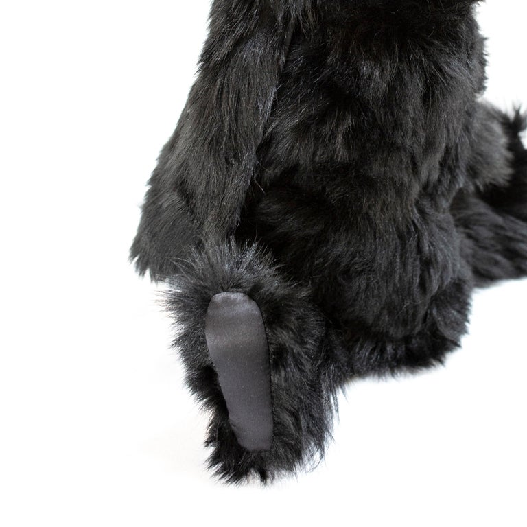 Arts and Crafts Real Toscana Sheep Black Fur Rabbit Toy For Sale