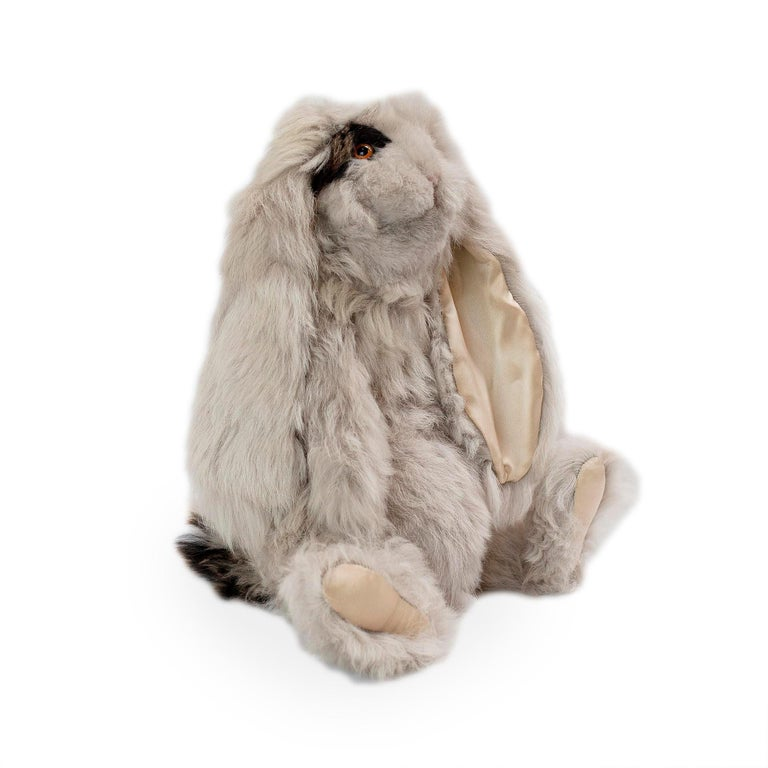 Real Toscana Sheep Black Fur Rabbit Toy For Sale 1