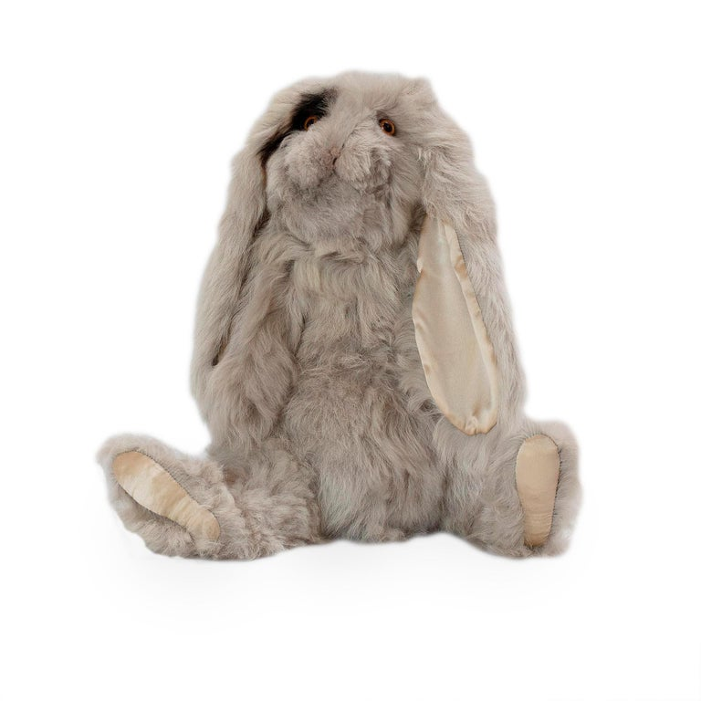 Real Toscana Sheep Black Fur Rabbit Toy For Sale 2