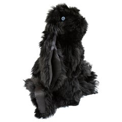 Real Toscana Sheep Black Fur Rabbit Toy