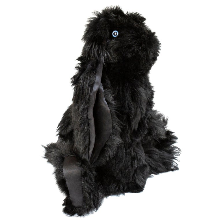 Real Toscana Sheep Black Fur Rabbit Toy For Sale