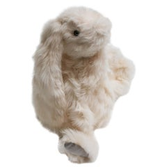 Real Toscana Sheep White Fur Rabbit Toy