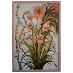 Realistic Pink Flowers Painting by L Lafortune