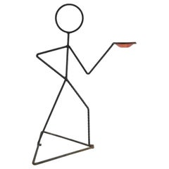 Rebar Stick Man Figure Vide Poche Holder, 1970s