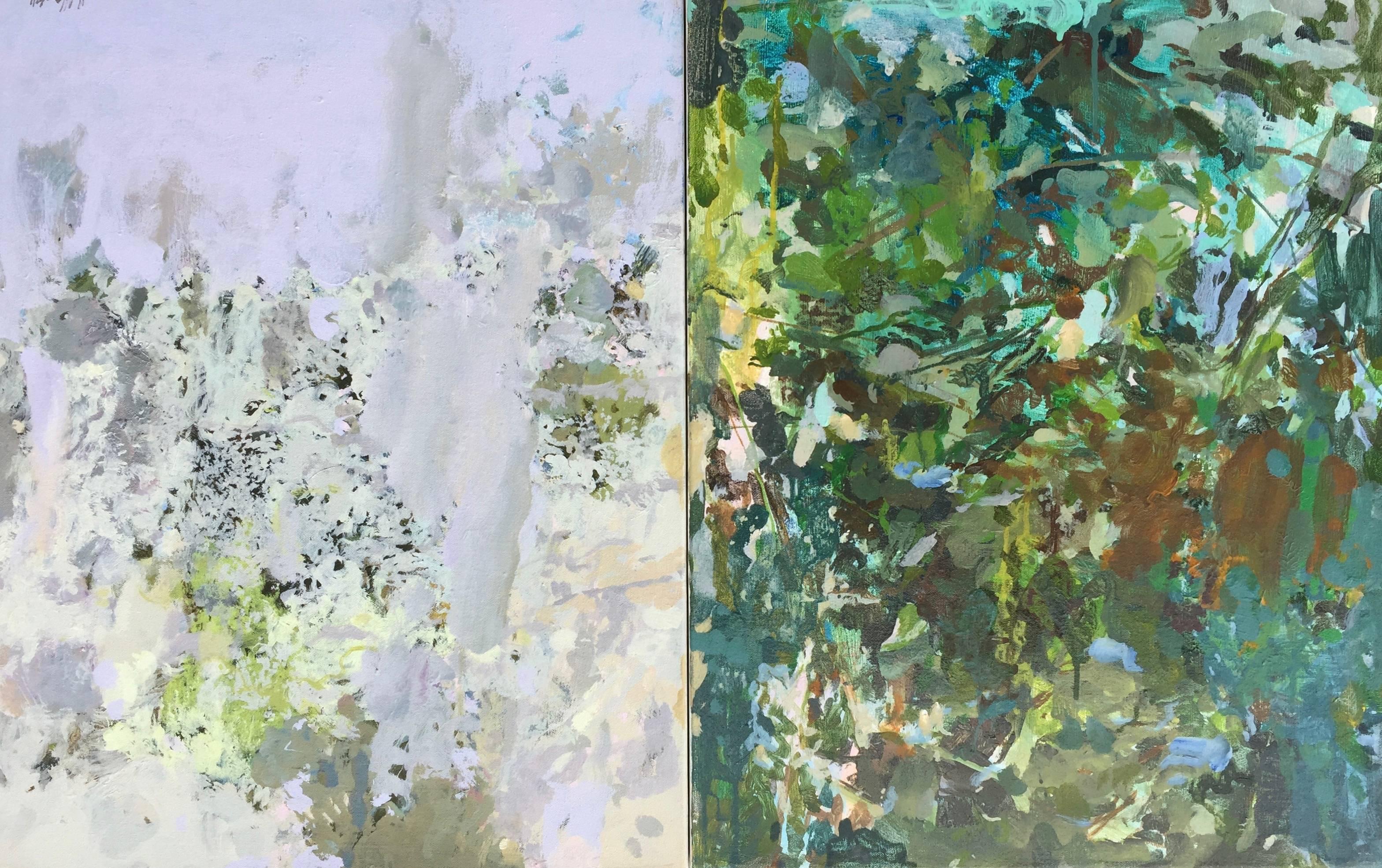 Theodore Dreiser's Garden (Spring/Winter) (diptych)