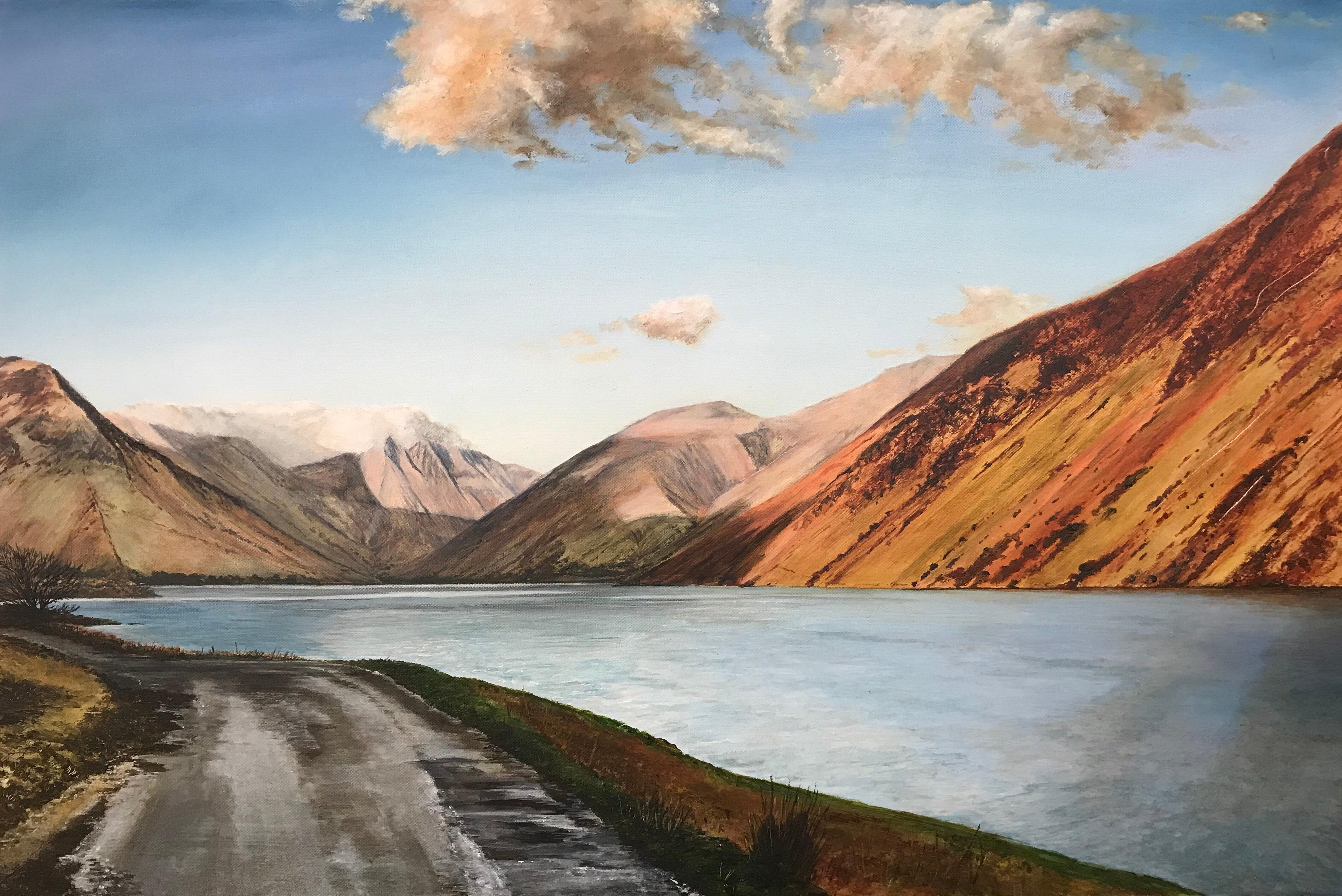 Landscape Painting of Wastwater Lake District by British Contemporary Artist