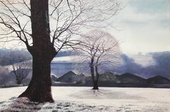 Landscape Painting of Winter Trees in England by British Contemporary Artist