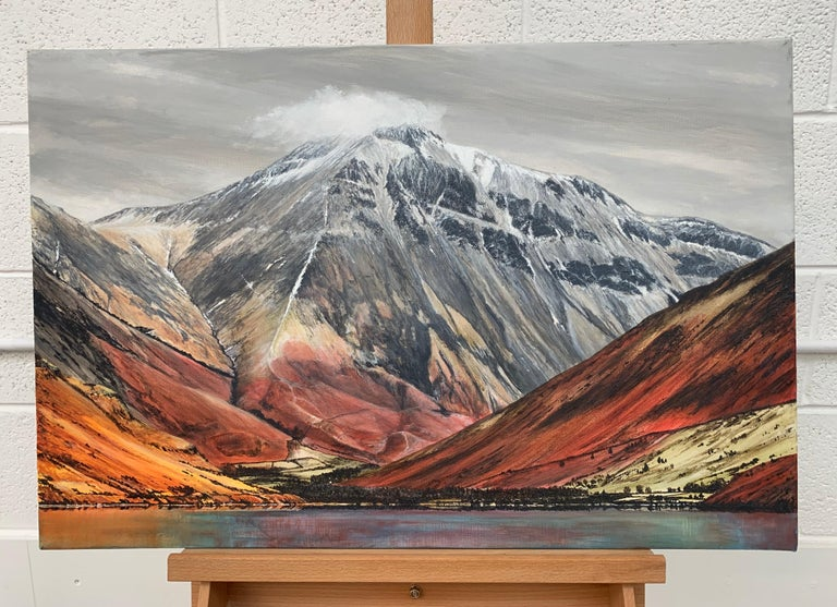 Mountain Landscape Painting of English Lake District Cumbria by British Artist For Sale 1