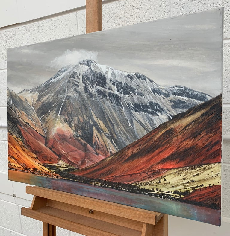 Mountain Landscape Painting of English Lake District Cumbria by British Artist For Sale 2