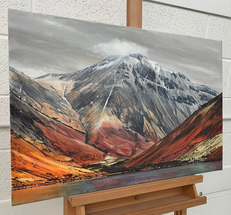 Mountain Landscape Painting of English Lake District Cumbria by British Artist For Sale 3