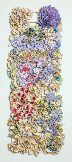 """""""Purple Atlas Density"""", Porcelain, Recycled and Handmade Paper, Mixed Media"""