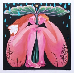 Safe, 2020, limited edition signed giclée on Moab paper, figurative, women, pink