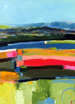 Out to Sea, Abenaki Monhegan, Abstract Oil Painting