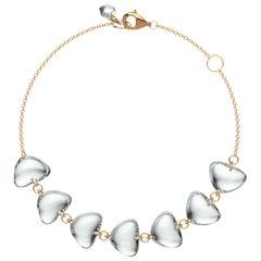 Rebecca Li 18 Karat Rose Gold Contemporary Mindfulness Natural Crystal Bracelet