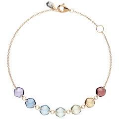 Rebecca Li 18 Karat Rose Gold Contemporary Mindfulness Natural Gemstone Bracelet