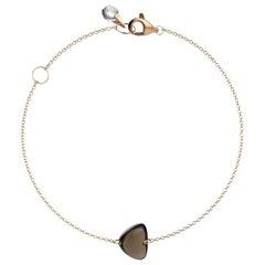 Rebecca Li Crystal Link Bracelet, 18 Karat Rose Gold with Smoky Quartz