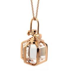 REBECCA LI Six Senses Talisman Necklace, 18k Gold Large Natural Rock Crystal