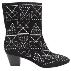 Rebecca Minkoff Black Suede Studded Boots