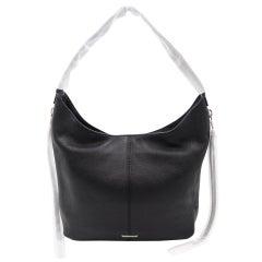 Rebecca Minkoff Bryn Double Zip Hobo Black Leather Women Shoulder Bag HU17EMOH41