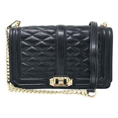 Rebecca Minkoff HF16ILVX08 Black Leather Quilted Love Crossbody Ladies Purse