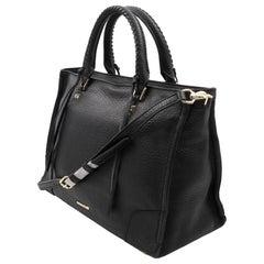 Rebecca Minkoff HS16IPBS31 Medium Black Pebble Leather Satchel Tote Ladies Bag