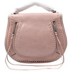 Rebecca Minkoff HSP7EDSX91 Vanity Saddle Lilac Rose Leather Crossbody Womens Bag