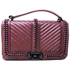 Rebecca Minkoff Love HH16MCHX05 Chain Dark Cherry Leather Ladies Crossbody Purse