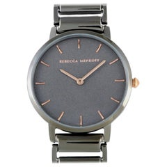 Rebecca Minkoff Major Gray Ion-Plated Watch 2200261
