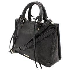 Rebecca Minkoff Micro Regan Satchel Leather Black Bag HS161PBX61