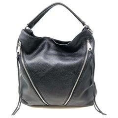 Rebecca Minkoff Moto Hobo Leather Black Womens Bag HS16EFCH04