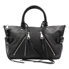 Rebecca Minkoff Moto MSRP Small Black Leather Satchel Tote Purse HS15EMOS26