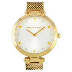 Rebecca Minkoff Nina Gold-Tone Mesh Bracelet Watch 2200300