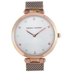 Rebecca Minkoff Nina Rose Gold-Tone Mesh Bracelet Watch 2200301