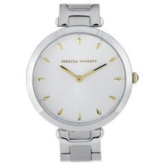 Rebecca Minkoff Nina Silver-Tone Bracelet Watch 2200276