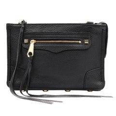 Rebecca Minkoff Regan Black Leather Women's Messenger Bag HS16IPBX68