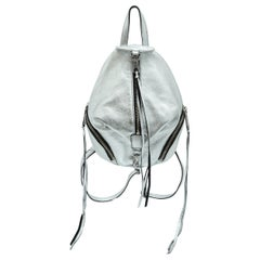 Rebecca Minkoff Silver Leather Backpack