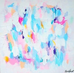 Rebecca Newport, Pansy, Original Abstract Painting, Original Mixed Media Art