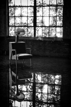"""Contradiction"", photograph, abandoned, factory, salon, hair dryer, vintage"
