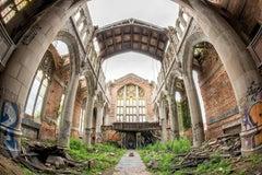 """Divine"", Rebecca Skinner, abandoned church, metal print, color photograph"