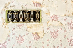 """""""Fading"""", color photo, wallpaper, switches, electrical, pink, beige, vintage"""