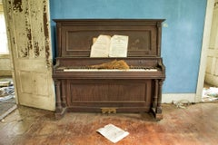 """Farmhouse Blues"", Rebecca Skinner, abandoned farmhouse, piano, metal print"