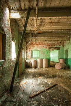 """""""Passing Time"""", color photograph, abandoned paper mill, industrial, metal print"""