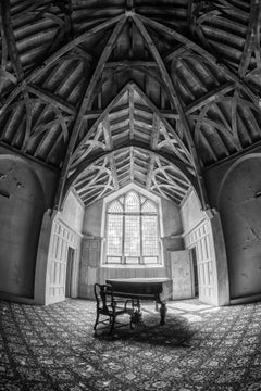 """""""Peace"""", photograph, abandoned, black and white, piano, mansion, architecture"""