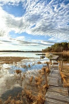 """Reflection"", color photograph, metal print, landscapes, New England, seascape"