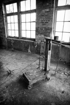 """""""Scale"""", photograph, black and white, abandoned, silk mill, industrial, vintage"""