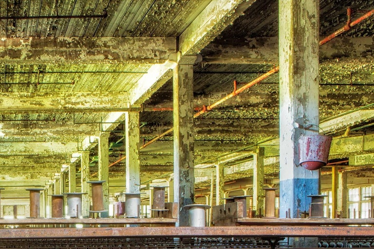 Silk Mill - Brown Color Photograph by Rebecca Skinner