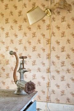 """""""Still"""", Rebecca Skinner, meat grinder, metal print, color photograph, vintage"""