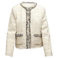 Rebecca Taylor White & Black Tweed Evening Jacket