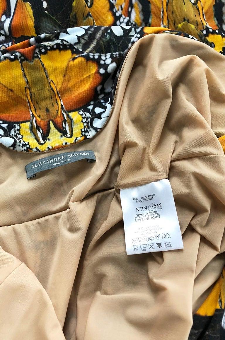 Recent Alexander McQueen Butterfly Print Back Draped